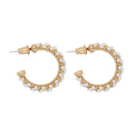 Taina Pearl Hoop Earrings Gold (BACK IN STOCK)