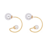 Yvette Front-back Pearl Earrings Gold