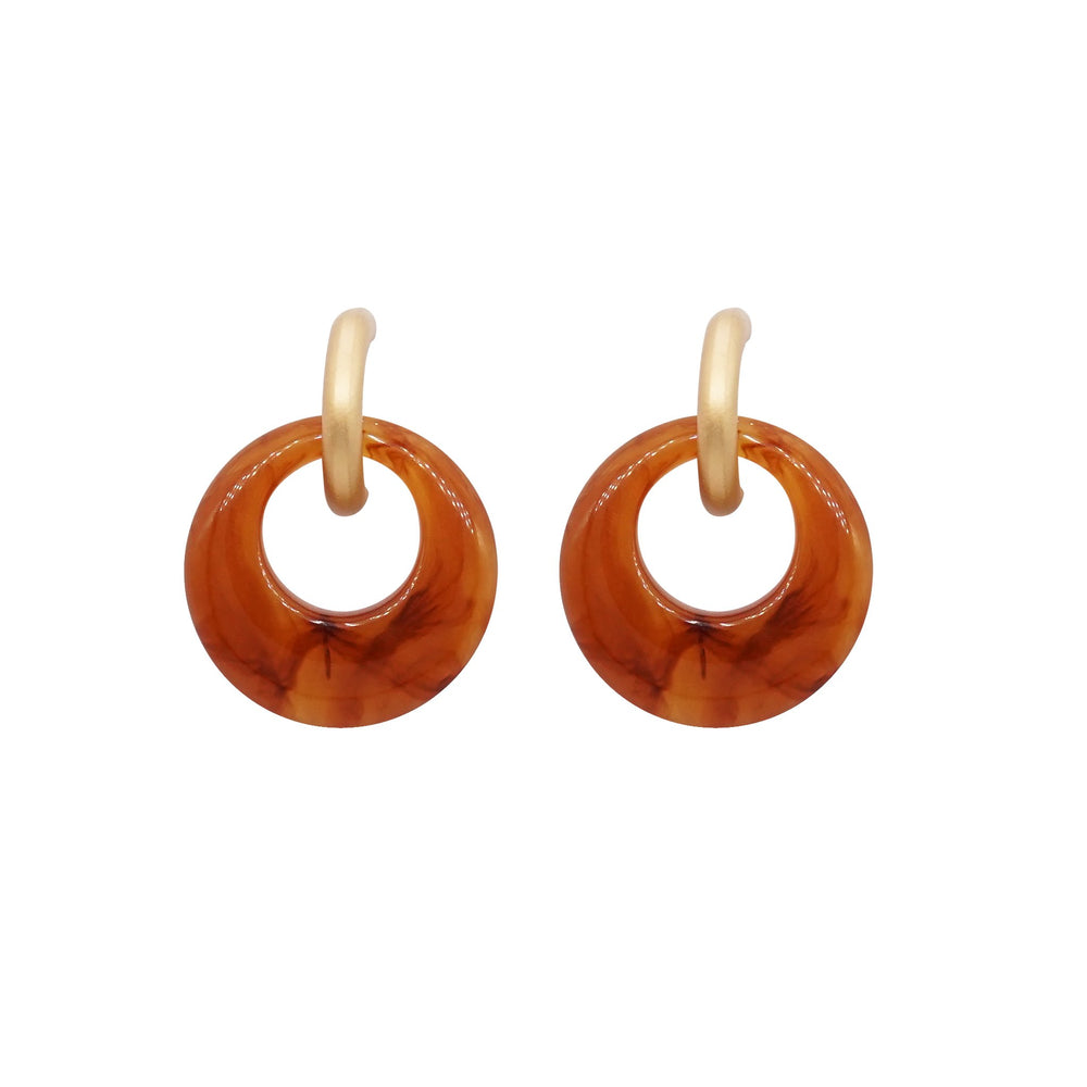 Catia Drop Earrings Brown