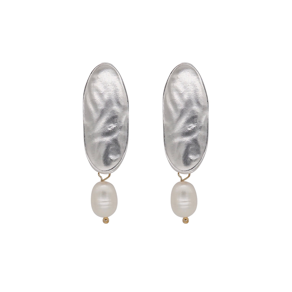 Vera Freshwater Pearl Earrings Silver