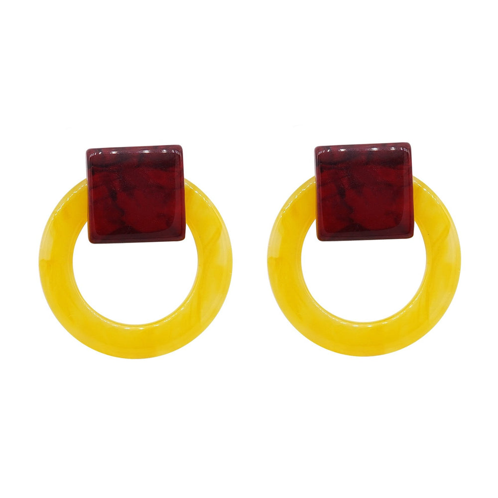 Kari Stud Earrings Yellow