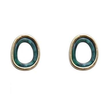 Orla Stud Earrings Green