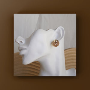 Load image into Gallery viewer, Finola Gold Plated Earrings - atto.studio