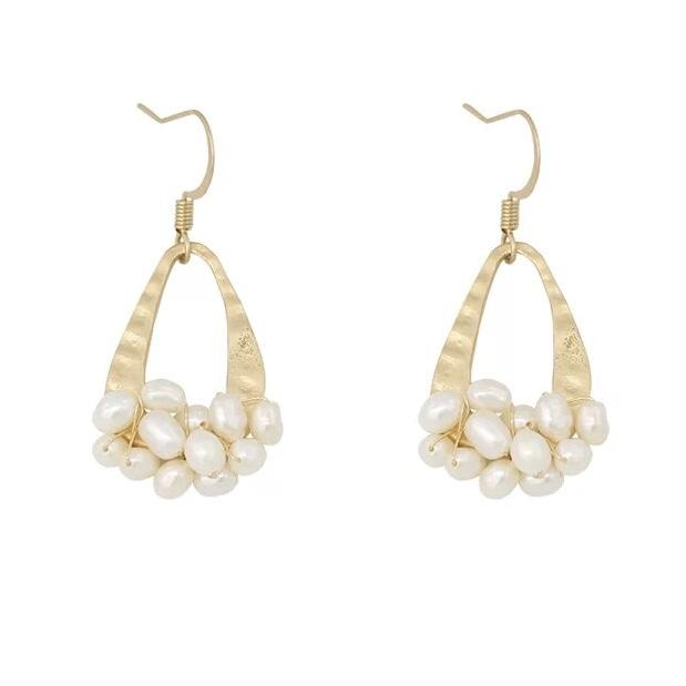Gypsophila Freshwater Pearl Earrings