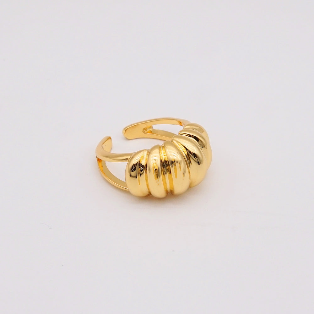 Croissant 18K Gold-plated Adjustable Ring