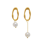 Jade Freshwater Pearl Earrings (2 colours)