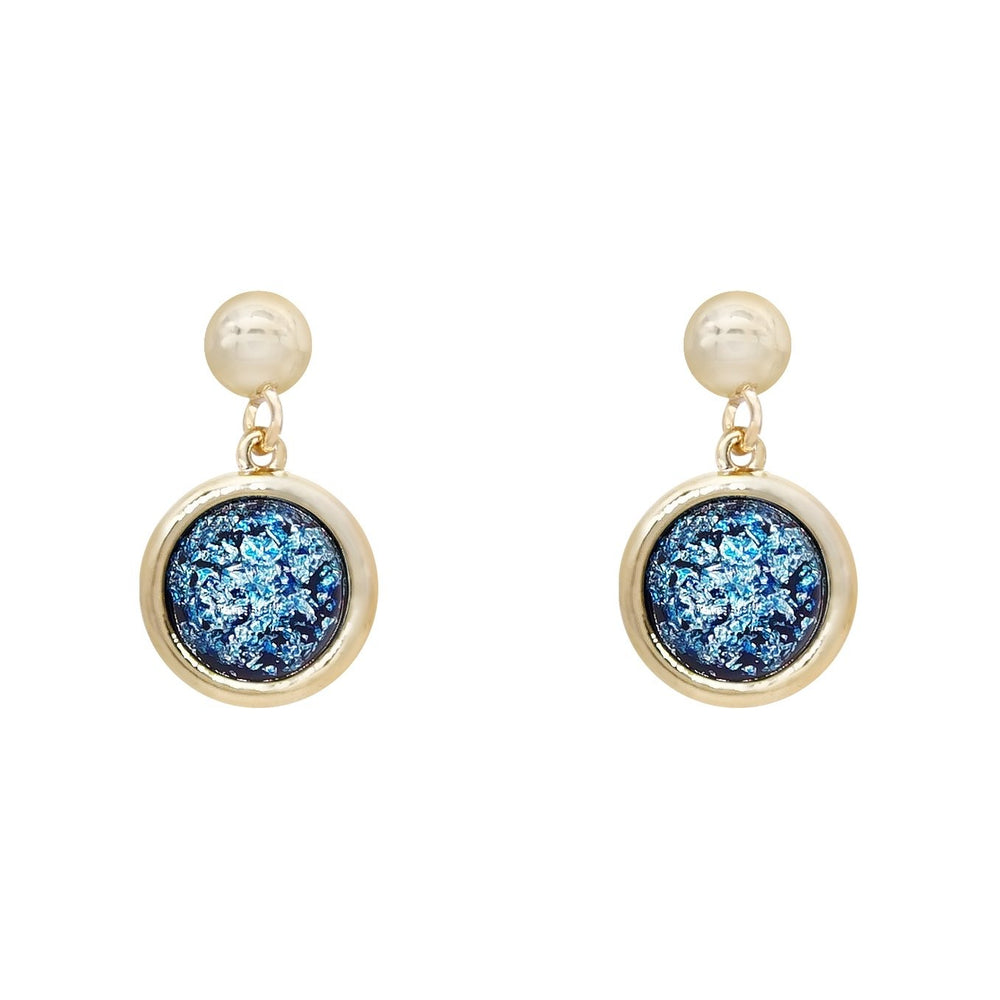 Jane Drop Earrings Blue - atto.studio