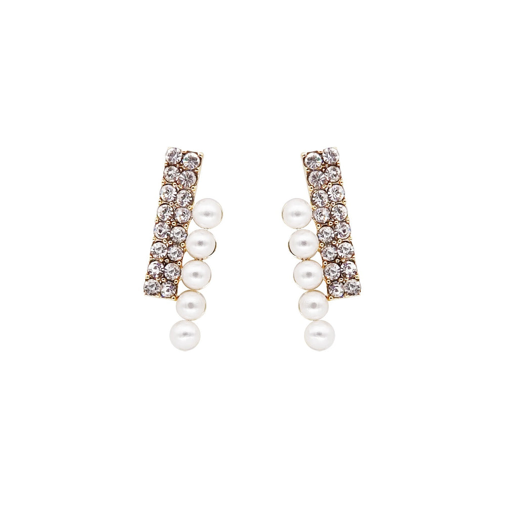 Lauryn Pearl Stud Earrings
