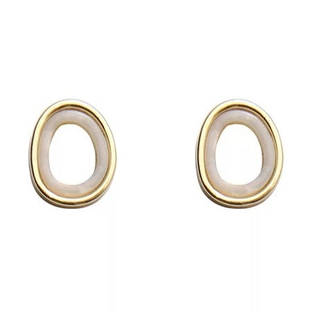 Orla Stud Earrings White