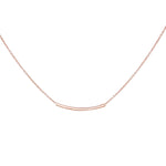 Raine Horizontal Bar Short Necklace Rose Gold