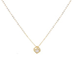 Trina Rhinestone Gold Necklace