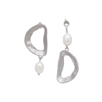 Vario Freshwater Pearl Drop Earrings (2 colours) - atto.studio