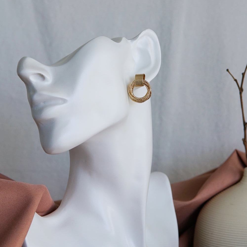 Bella Gold Plated Earrings - atto.studio