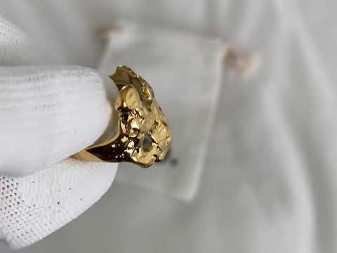 Load and play video in Gallery viewer, Margo Adjustable Ring 18K Gold-plated