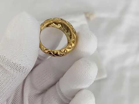 Load and play video in Gallery viewer, Charlotte 18K Gold-plated Ring