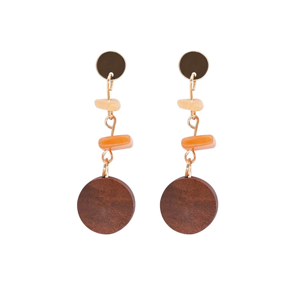 Saya Wooden Drop Earrings(BACK IN STOCK)