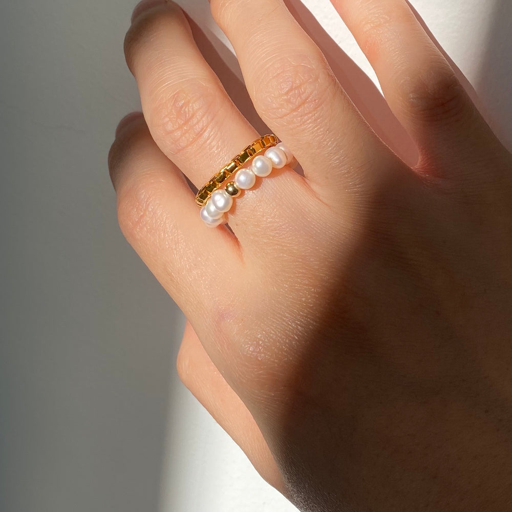 Fleur Gold-filled Pearl Ring