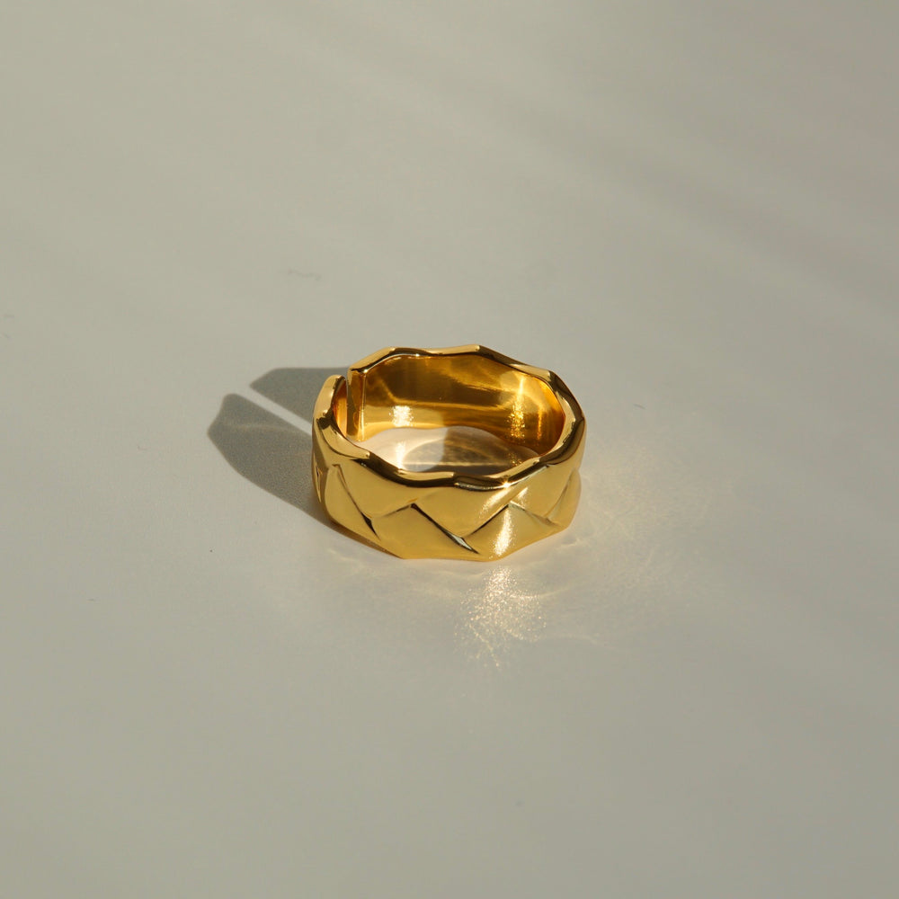 Marlin 18K Gold-plated Adjustable Ring