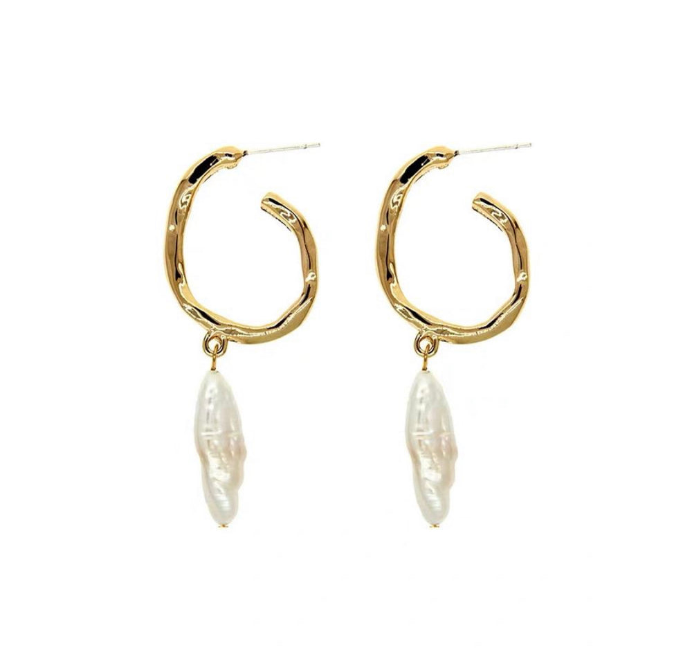 Alana Freshwater Pearl Hoop Earrings (BACK IN STOCK) - atto.studio