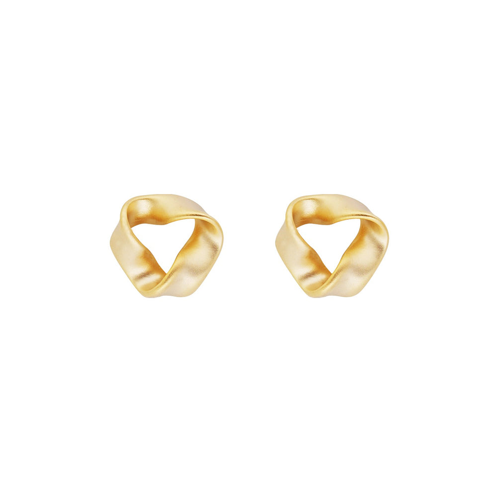 Verity Gold Plated Stud Earrings