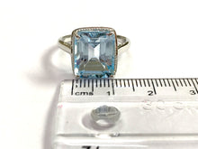 Load image into Gallery viewer, BLUE TOPAZ RING ,December Birthstone ,Hand Forged Ring,Valentine Gift,Topaz jewelry,Sky Blue Color.