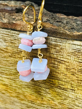 Load image into Gallery viewer, RHOCHROSITE - Blue LACE AGATE Earrings, Beaded Jewelry, Spike Earrings, Dangle Drop Earrings, Statement Jewelry,Gifts for Her