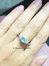 Load image into Gallery viewer, EMERALD RING, May birthstone ,Engagement ring,Anniversary Gift ,Green Beryl.