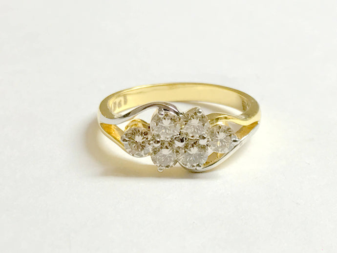 NATURAL DIAMOND RINGS , 14k Solid Gold / 0.85 ct wt , Round Diamonds ,Wedding & Engagement rings / Stackable ring /Valentines gift