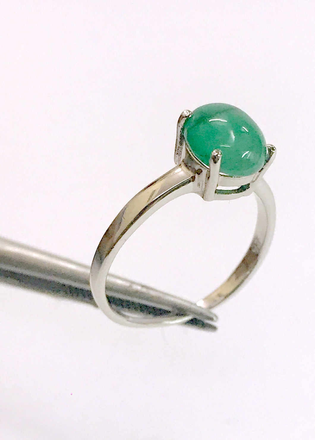 100% NATURAL EMERALD CABOCHON ,May birthstone , perfect gift for loved ones , silver emerald ring , emerald cabochon
