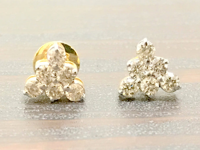 DIAMOND STUD EARRINGS ,14k Solid Gold , Stud Earrings ,Wedding Bridal Gift ,Women Jewelry , Fine Jewelry , Promise Gift For Her...