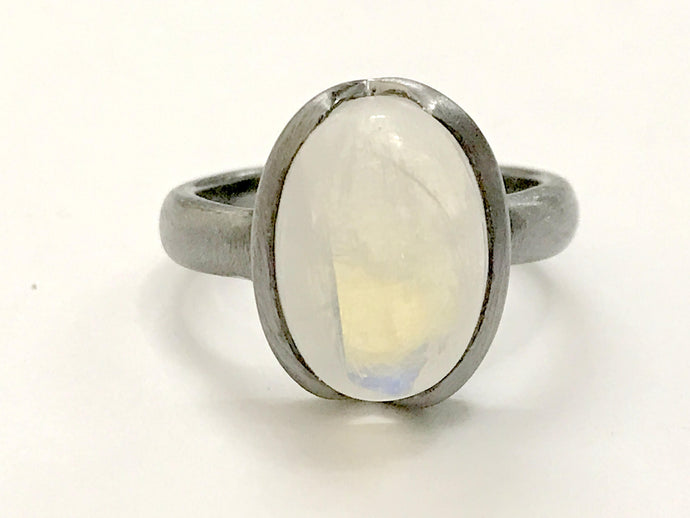 RAINBOW MOONSTONE RING ,Antique look ,White Rainbow ,Milky Rainbow ring,Men Ring,Fathers day gift