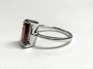 NATURAL RED GARNET silver ring ,January birthstone rings, red garnet ring,best gift for loved ones,Mothers day ..........