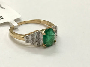 EMERALD DIAMOND 14K Gold Ring , May Birthstone , Emerald cut Engagement Ring , Eternity Ring , Best Gift For Love and friendship....