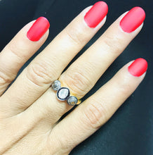 Load image into Gallery viewer, NATURAL ROSECUT DIAMONDS Rings,Antique Style ,Statement Band, Polki Diamond,Women Ring , valentine gift , Handmade jewelry ..