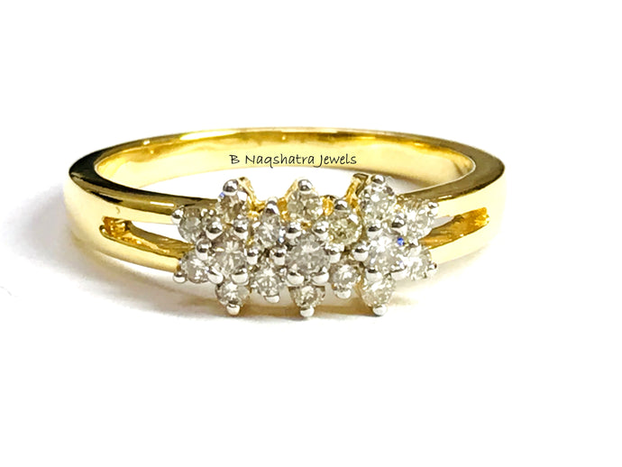 EXCELLENT CUT DIAMOND Ring-14k Solid Gold-Round Diamonds-Wedding & Engagement Gift-Stackable Ring