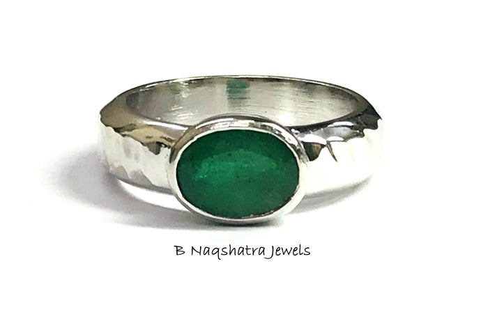 2.10 ct EMERALD OVAL MEN Ring-May birthstone ,Fathers Day Gift,Men's Jewelry.
