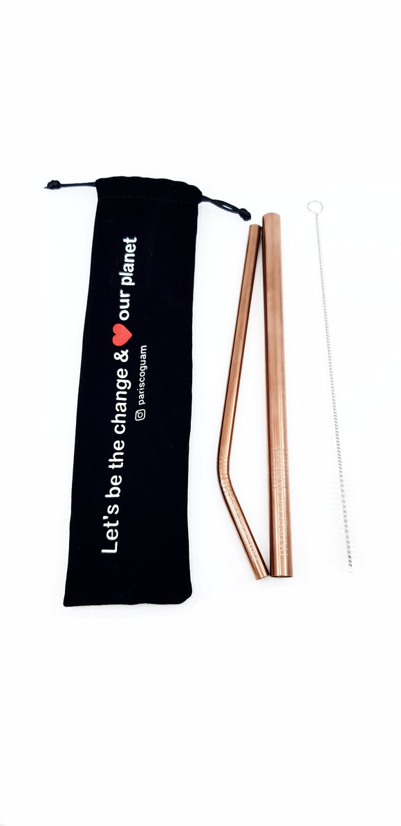 Rose Gold Reusable Straw