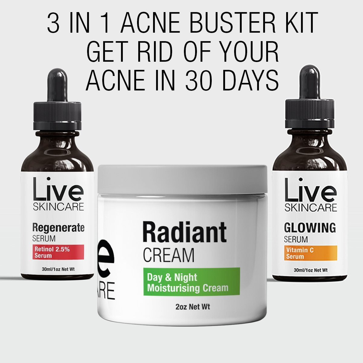 [ON SALE TODAY] Acne Buster 3 in 1 Kit!