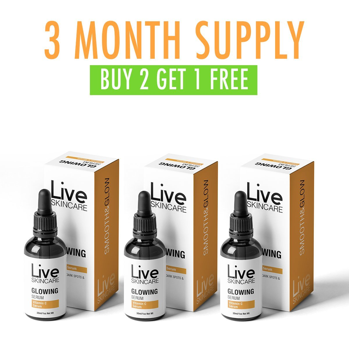 3 Month Supply - Vitamin C Serum (Gets Rid Of Acne In Just 7 Days)
