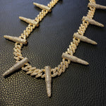 12mm Prong Bullet Cuban Link Chain Twenty 7 Links Chains