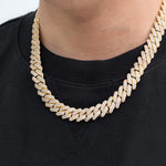 12mm Prong Set Cuban Link Chain Twenty 7 Links Chains