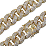 14K Gold Flooded Miami Cuban Link Chain Twenty 7 Links Chains