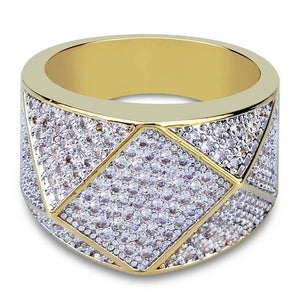 14K Iced Out Infinity Micro Pave Ring Twenty 7 Links Rings