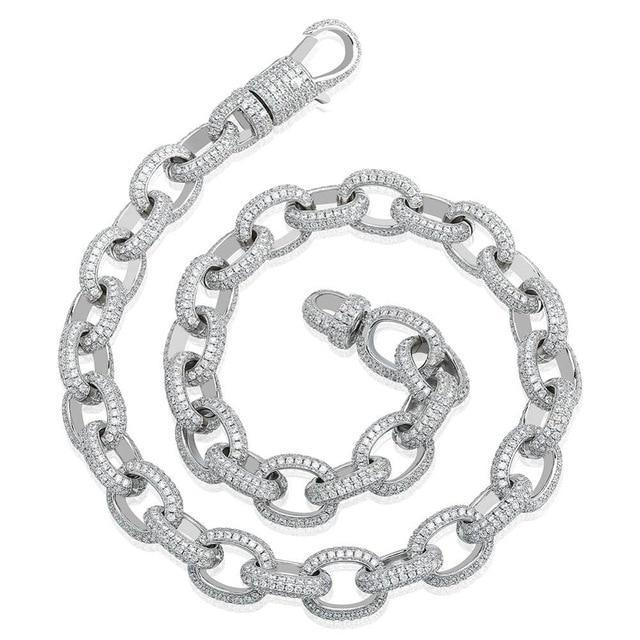 14K White Gold Anchor Link Rolo Chain Twenty 7 Links Chains
