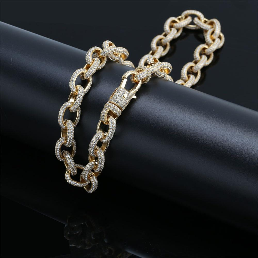 14K Yellow Gold Anchor Link Rolo Chain Twenty 7 Links Chains