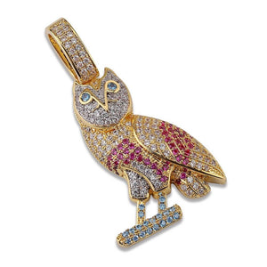 18k Gold OVO Owl Pendant Chain Twenty 7 Links Pendants