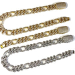 19mm Figaro Chain Twenty 7 Links Chains