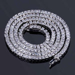 6mm White Gold Tennis Chain Twenty 7 Links Chains