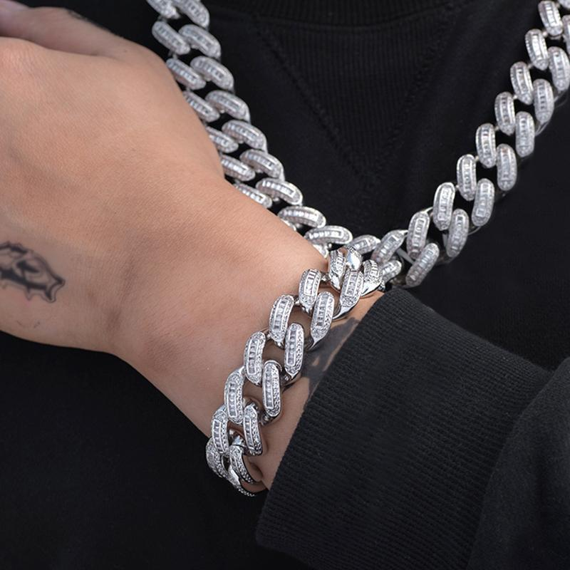 Baguette Cuban Link Bracelet Twenty 7 Links