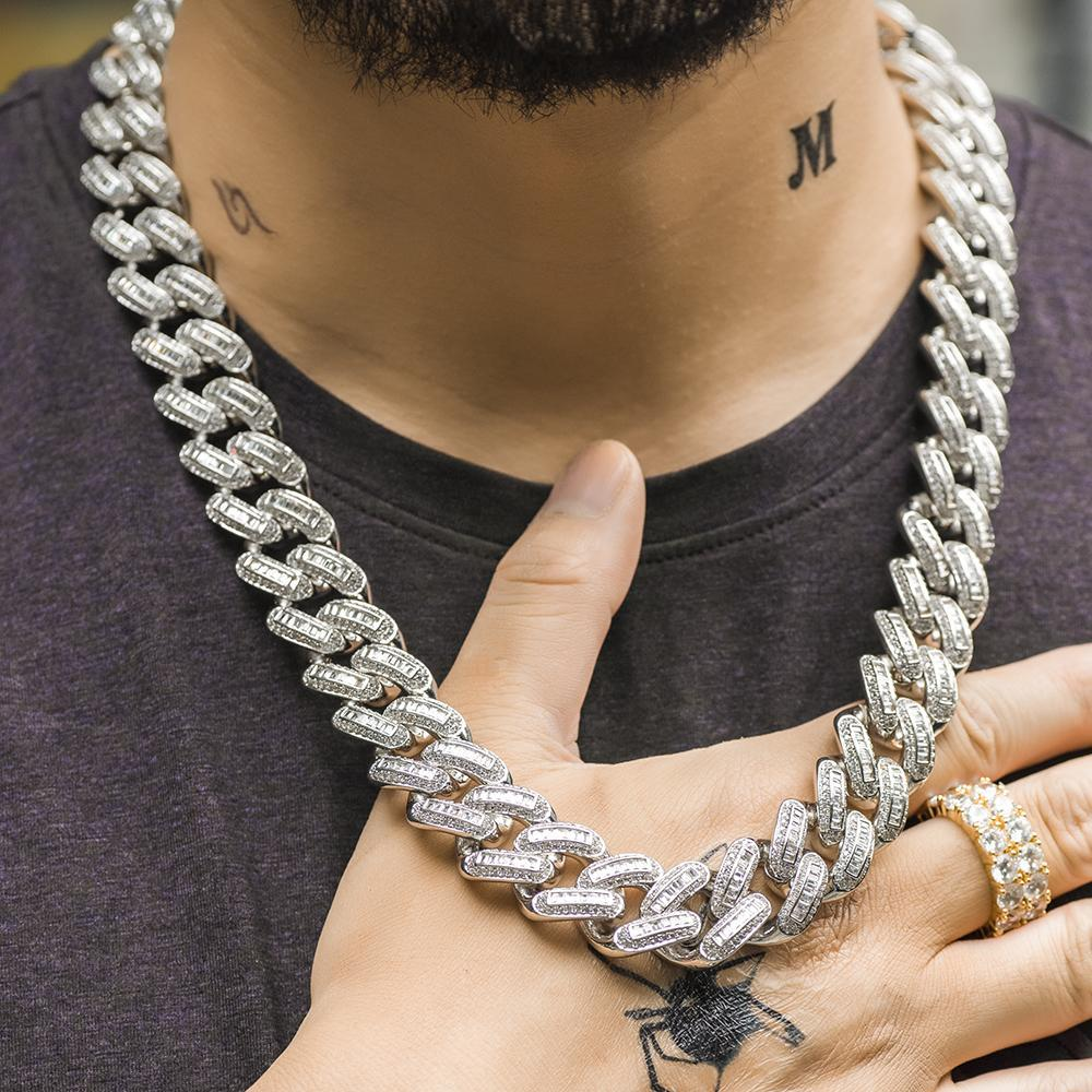 Baguette Cuban Link Chain Twenty 7 Links
